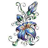Blue Flower Tattoo Design Blue flowers tattoo design