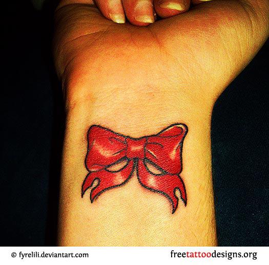 girl tattoos cute wrist bow tattoos. Black Bedroom Furniture Sets. Home Design Ideas