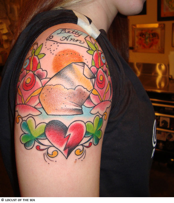 broken heart tattoo. Heart Tattoo Gallery