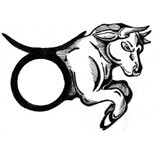 Bull and taurus sign tattoo design