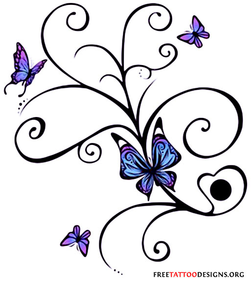 60 butterfly tattoos feminine and tribal butterfly tattoo designs - Tatouage de papillon ...