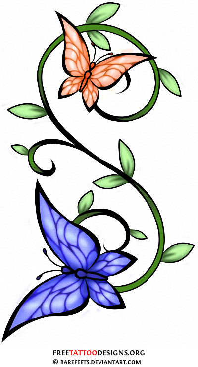 60 butterfly tattoos feminine and tribal butterfly tattoo designs. Black Bedroom Furniture Sets. Home Design Ideas