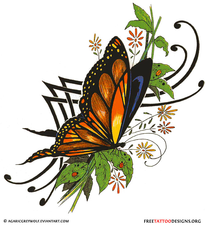 60 Butterfly Tattoos | Feminine And Tribal Butterfly ...