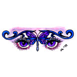 Butterfly and eyes tattoo design