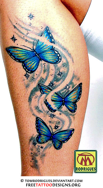 Tattoo Simbols: Tribal Butterfly Tattoos |Tribal Butterfly Tattoos On Hip
