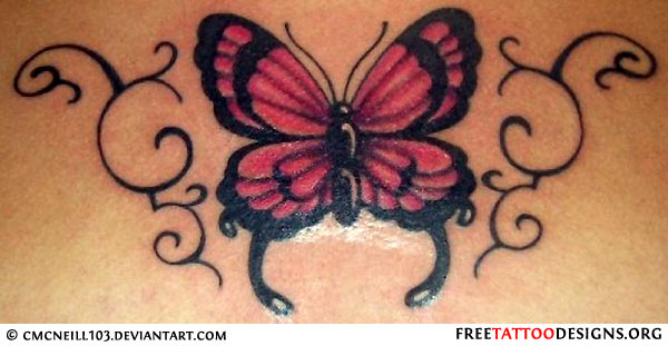 what does a tramp stamp tattoo mean