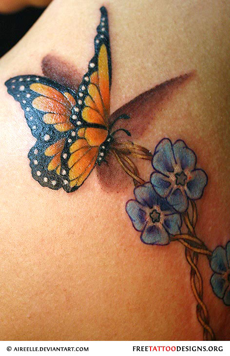 Butterfly tattoo gallery for Butterfly tattoos gallery