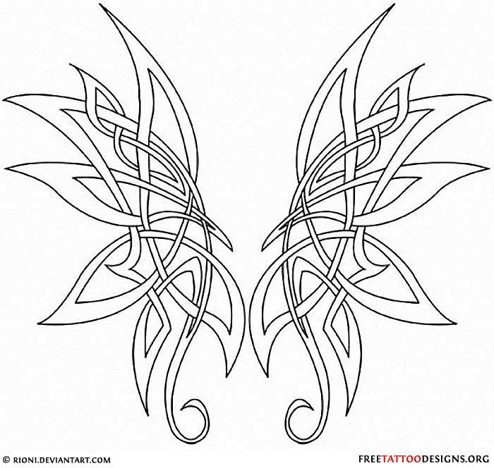 Celtic Butterfly Tattoo Celtic Butterfly Wings