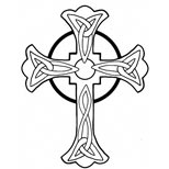 Celtic cross tattoo art