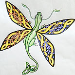 Celtic dragonfly tatoo design