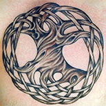 Celtic tree of life tattoo