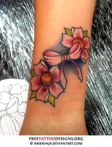 Cherry blossom tattoo designs for Cherry blossom tattoo wrist