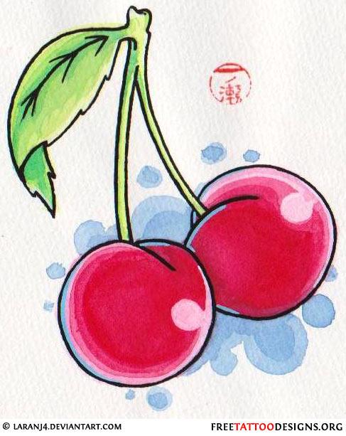 55 cherry tattoo designs their hidden meaning cherry skull tattoo design cherry tattoo design urmus Gallery