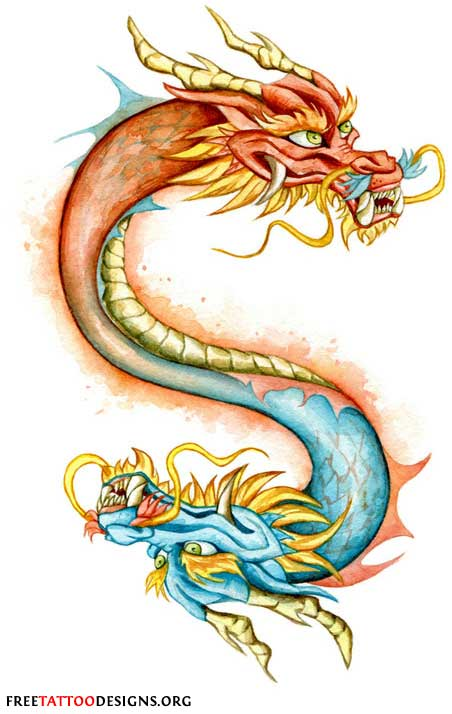 Chinese dragon head tattoos designs pictures