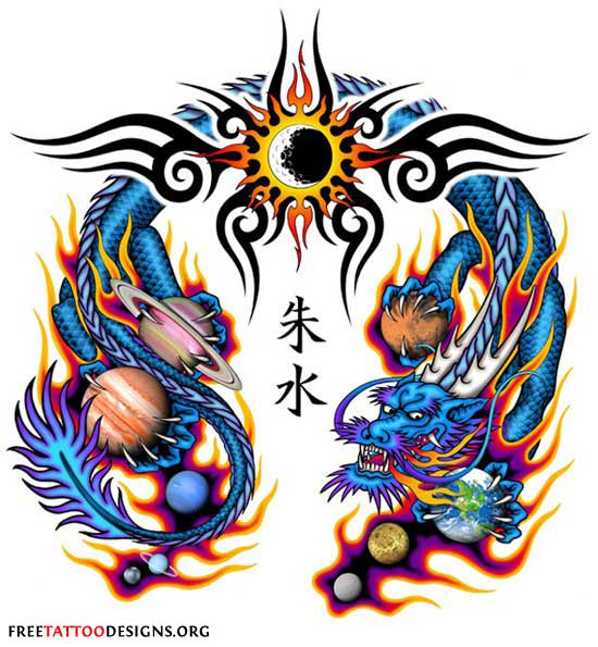 Chinese Fire Dragon Drawings Chinese Dragon Tattoo With