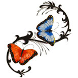 Classic butterfly tattoo design
