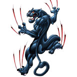 Classic black panther tattoo design