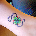 Clover tattoo on ankle