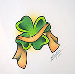Clover tattoo design