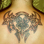 Clover tribal on a woman's back