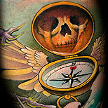 The gallery for --> Neo Traditional Compass Tattoo