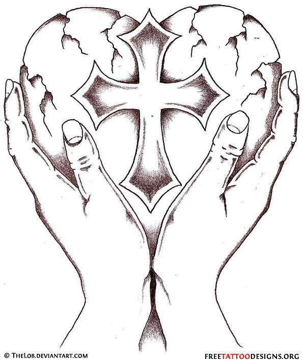 Heart and Cross Tattoo Designs