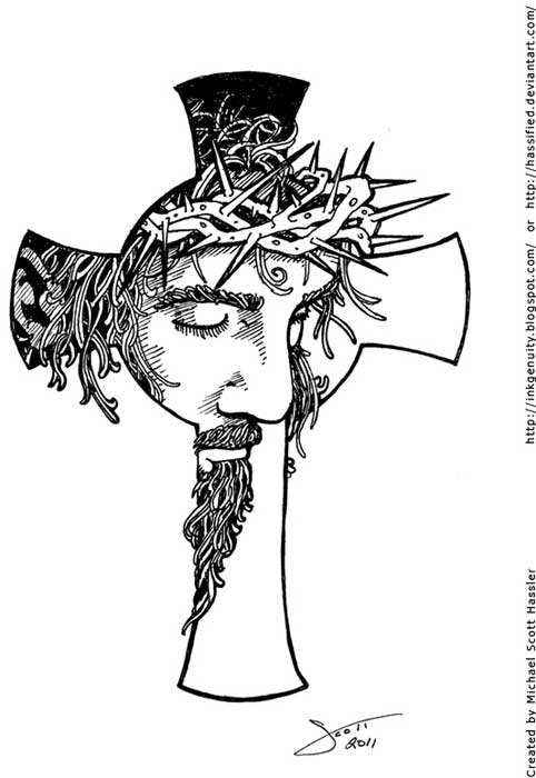 Tattoo Design Line Art : Cross tattoos tattoo designs of holy christian