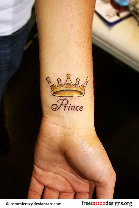 Crown wrist tattoos for men - photo#1