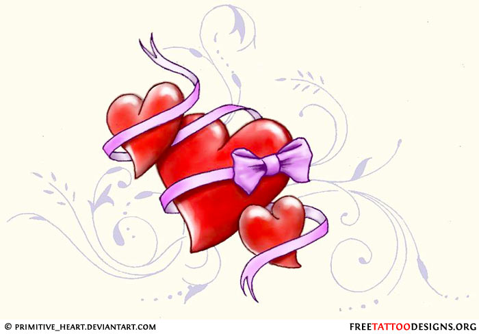 Cute Heart Tattoo Designs: Love And Sacred Heart Tattoo Designs