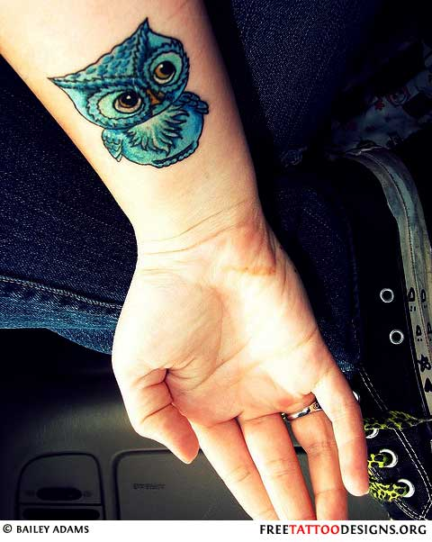 Cute owl tattoos on foot - photo#27