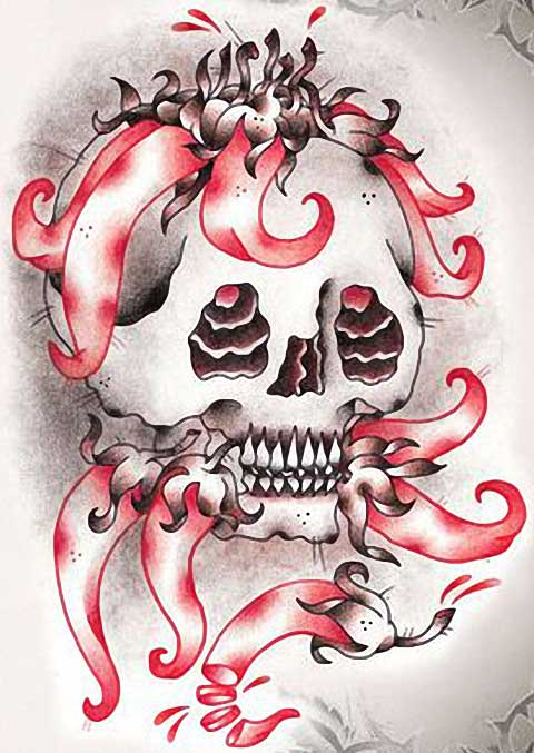 girly skull tattoos. Girly Skull Tattoos