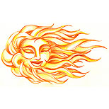 Cute sun tattoo design