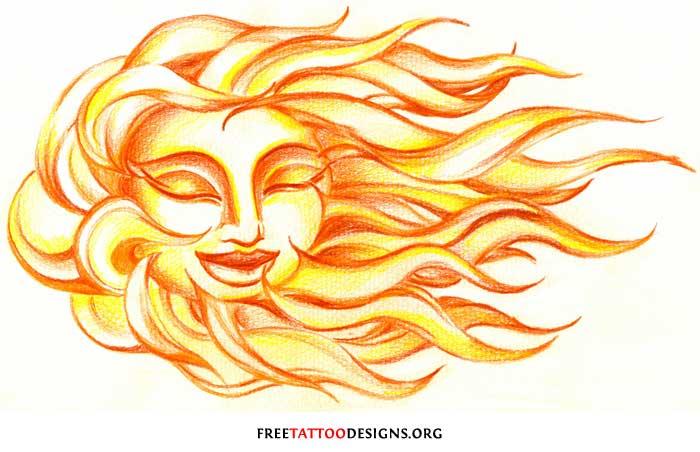 Sun Design Images 65 Sun Tattoos ...