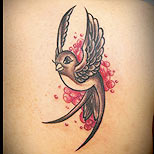 Cute swallow tattoo