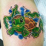 Cute turtle tattoo