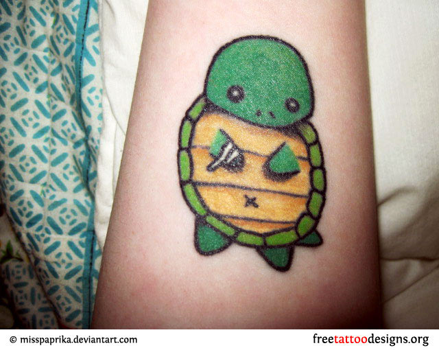 The cute turtle tattoo ideas and meaning for girl tattoo design and