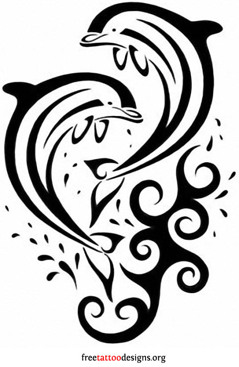 Gallery For gt Henna Dolphin