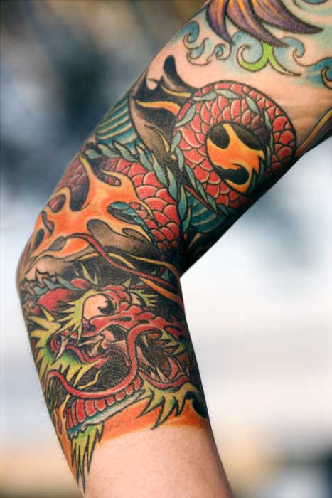 Dragon tattoo gallery for Forearm tattoo gallery