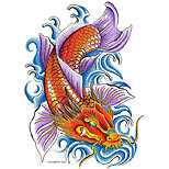 Dragon koi tattoo design