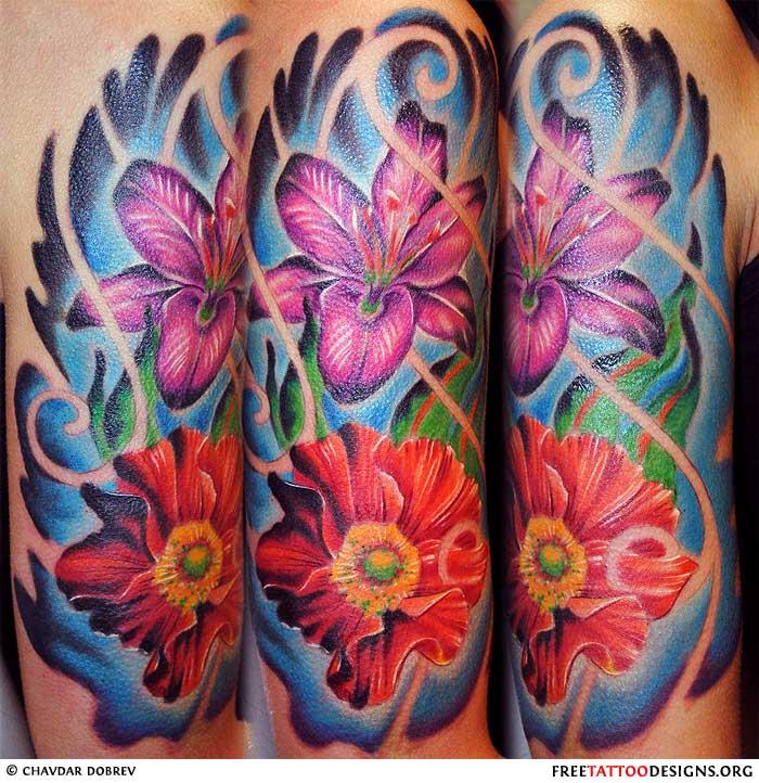 Tropical Flower Tattoos: Flower Tattoo Gallery: 70 Flower Designs