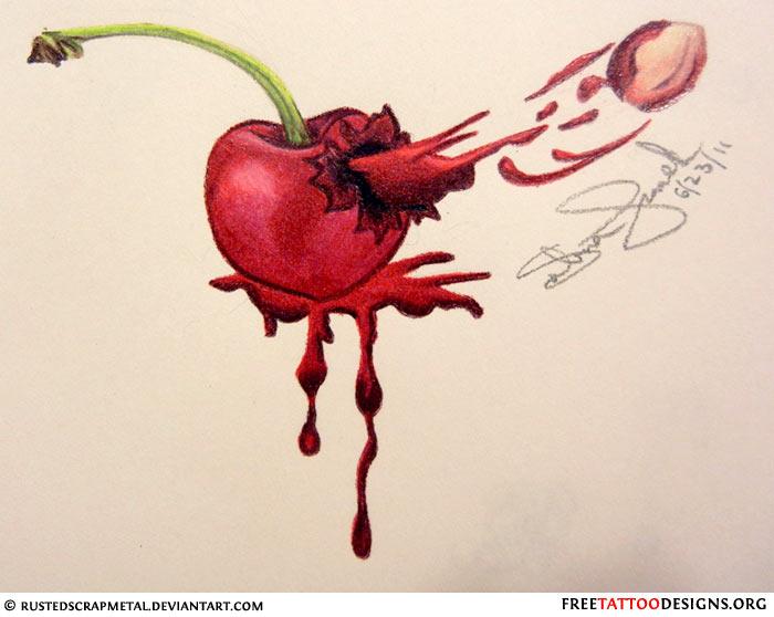 top cherry heart designs images for pinterest tattoos. Black Bedroom Furniture Sets. Home Design Ideas