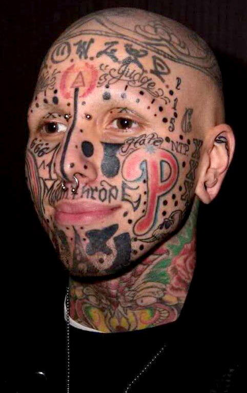 Facial Tattoo Gallery 13