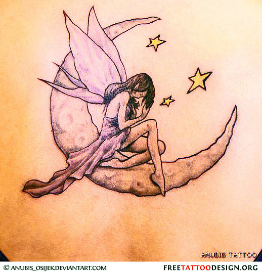 Fairy Moons And Star Tattoos 89