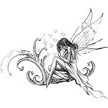 Fairy tattoo design