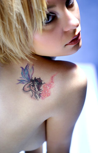 Female Fairy Tattoo http://www.freetattoodesigns.org/images/tattoo-gallery/