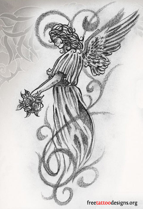 Guardian Angels Tattoo Designs : Angel tattoos wings guardian and st michael