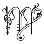 Feminine virgo tattoo design