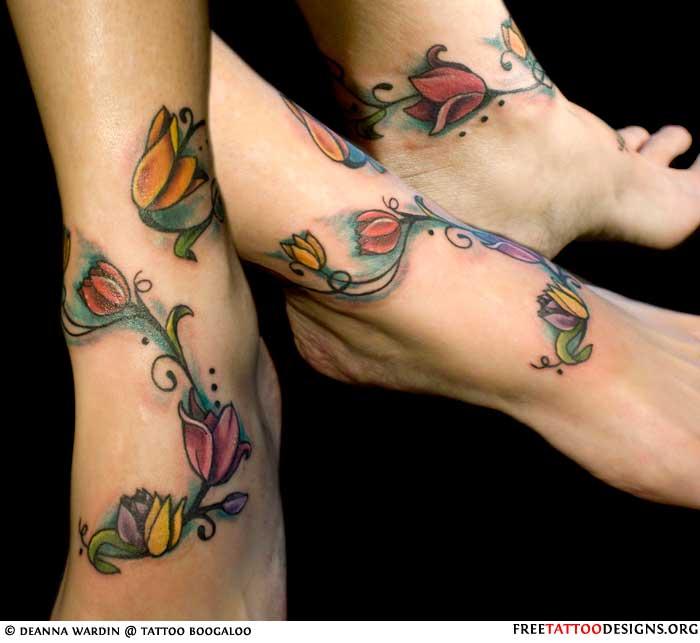 Foot tattoo gallery flowers tattoo on feet mightylinksfo