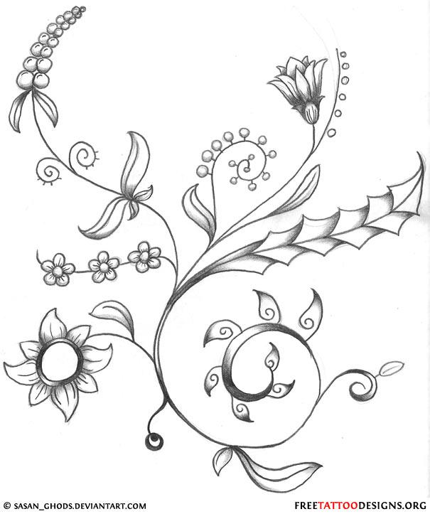 Flower Tattoo Gallery: 70 Flower Designs