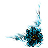 flower tattoo design in foot